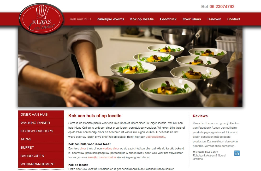 wordpress-website-klaas-culinair