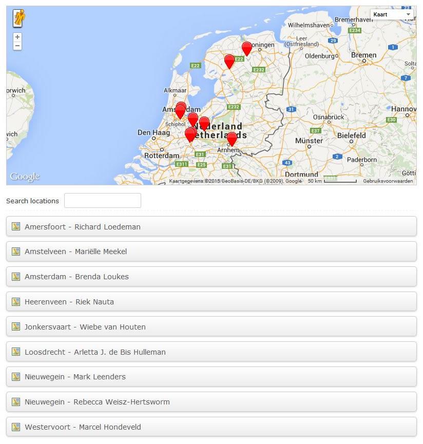 WordPress plugin: Google Maps