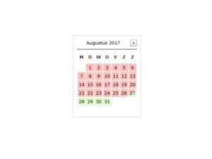 beschikbaarheidskalender plugin