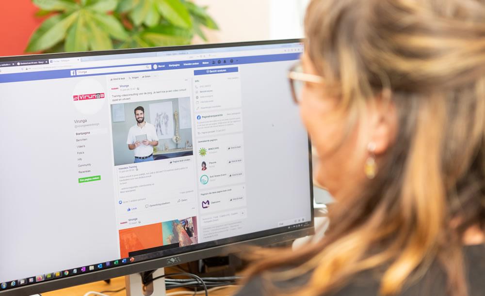 Training social media